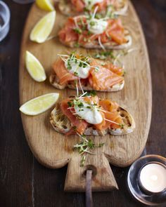 Smoked Salmon, Horseradish and Cress Toasts recipe, via Jamie Oliver, photo: David Loftus