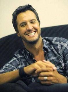 that smile  :) luke bryan