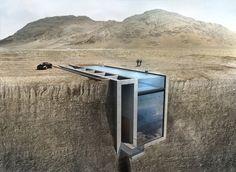 Esta casa está dentro de uma montanha, de frente para o Mar Egeu e tem uma…
