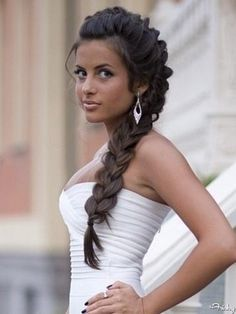 Bridal Hair: Long Side Braid - California Weddings At: http://www.FresnoWeddings.Net/