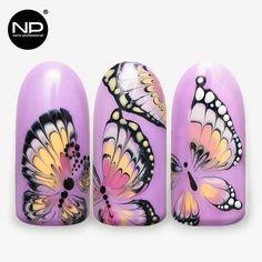 Nail Design, Nail Art, Nail Salon, Irvine, Newport Beach Butterfly Nail Designs, Butterfly Nail Art, Nail Designs Spring, Nail Art Designs, Nail Art Images, Nail Tutorials, Perfect Nails, Love Nails, Nail Arts
