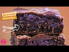 L'ultime recette du brownie au chocolat ! Une recette facile, rapide, gourmande et inratable ! Cake Pops, Brownies, Biscuits, Muffins, Cupcakes, Sweets, Rue, Tiramisu, Country