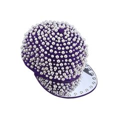 "Beaded ""Fake Pearls"" Purple Hat.Purple hat, featuring beads embellishment on the brim, fake pearls decorated all-over, and an adjustable strap design on back. - See more at: http://pariscoming.com/en-beaded-fake-pearls-purple-hat-p143413.htm#sthash.24l5RTfi.dpuf"
