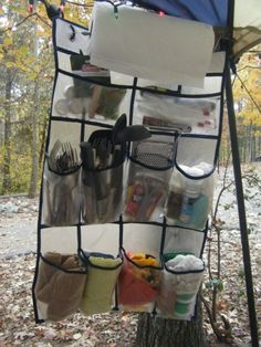 Cool Camping Tricks and Tips Pure Genius! A shoe organizer to keep all your camping essentials off the ground & handy! A shoe organizer to keep all your camping essentials off the ground & handy! Camping Ideas, Camping Diy, Camping Glamping, Camping Supplies, Camping Checklist, Camping Survival, Family Camping, Outdoor Camping, Camping Stuff