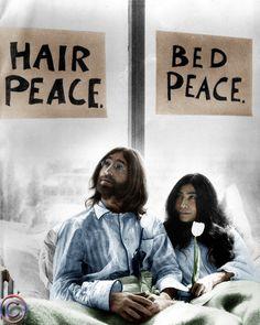 Hair peace, bed peace.... Peace