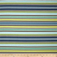 Richloom Chavez Stripe Opal from @fabricdotcom  Screen printed on cotton duck; this versatile medium weight fabric is perfect for some window treatments, accent pillows and upholstery. Colors include ivory, brown, kiwi and shades of blue. The stripe is horizontal to the selvedge.