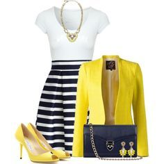 Navy & Yellow by stay813 on Polyvore featuring mode, Jane Norman, Chicwish, Jimmy Choo, Aspinal of London and Stella & Dot