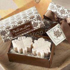 Seife, Blatt, handgemacht, beige, 25x25x12mm, 30Kästen/Gruppe, 2Stücke/Kasten, verkauft von Gruppe - perlinshop.com