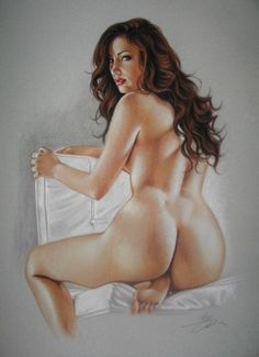 Catawiki, pagina di aste on line  Pin-up art  Sly - Shoulder Check - 2016