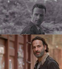 Rick then and Rick now. (With now 50% more crazy, for ripping a guys jugular and gutting a guy)