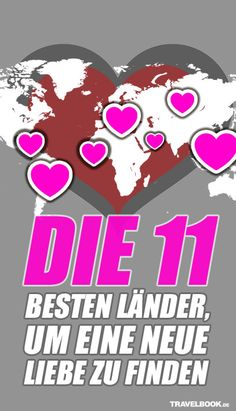 Das Netzwerk InterNations hat Auswanderer auf der ganzen Welt nach ihrem Liebesglück gefragt – und die Länder gelistet, in denen Expats und Aussteiger dieses am ehesten in einer Beziehung mit Einheimischen fanden. Was dabei herauskam? Die ultimative Love-Map für alle, deren Liebe keine Grenzen kennt: http://www.travelbook.de/welt/In-den-Augen-der-Auswanderer-Die-11-besten-Laender-um-eine-neue-Liebe-zu-finden-585686.html