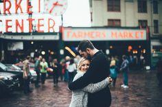 seattle pike place market, pike place market engagement session, seattle wedding photographer,