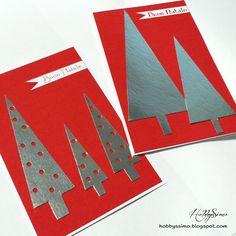 HobbysSimo: Card Natale #2 - Alberi stilizzati (+ free pattern)
