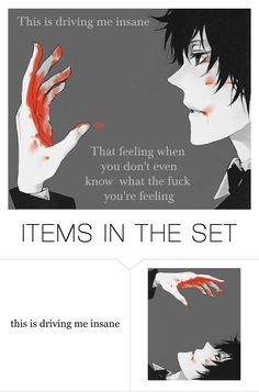 """""""Insane"""" by neko4life ❤ liked on Polyvore featuring art"""