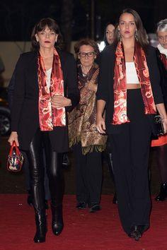 Princess Stephanie of Monaco and daughter Pauline Ducruet attend the 40th International Circus Festival on January 14, 2016 in Monaco, Monaco.