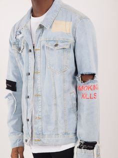 All Mighty Denim Mens Fashion Week, Denim Fashion, Basic Outfits, Cool Outfits, Young Fashion, Outerwear Jackets, Denim Jackets, Mens Clothing Styles, Fashion Killa
