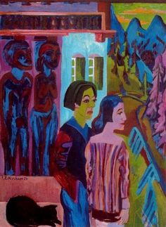 Ernst Ludwig Kirchner, Before the Dawn, 1924-1926