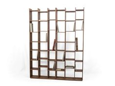 Open double-sided wooden bookcase RALPH by Larforma design Pedro Ferreira