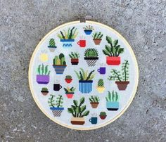 Botany - Modern cross stitch pattern PDF - Instant download by thestitchmill on Etsy https://www.etsy.com/uk/listing/496476406/botany-modern-cross-stitch-pattern-pdf