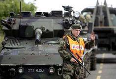 irish military | ... irish soldiers when on the ground im sure they did camo up irish