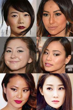 maquiagem para orientais com delineador