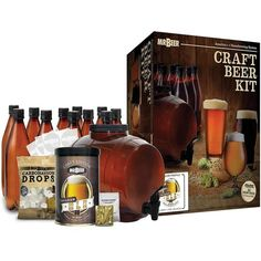 GIFT-FEED: Mr. Best Craft Beer Brewing Making Kit Gift Make Your Own Beer, How To Make Beer, Beer Brewing Kits, Beer Kits, Beer Making Kits, Home Brewing Equipment, Best Craft Beers, Homemade Beer, Gifts For Beer Lovers