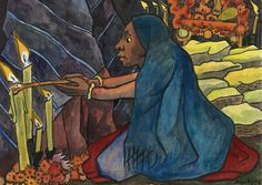 Diego Rivera The offering Diego Rivera Art, Frida And Diego, National Art, Mexican Art, Artist Gallery, Woman Painting, Public Art, American Artists, Art And Architecture