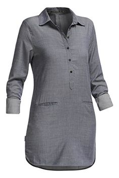 Icebreaker Women's Kala Dress, Fathom Heather/Jet Heather, X-Large -- Learn more by visiting the image link.
