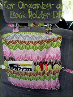 Car Organizer  Book Holder DIY