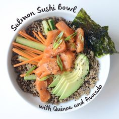 This Salmon Sushi Bowl deconstructs classic sushi and turns it into a superfood meal!