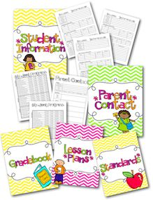 Binder-ize with this teacher organization binder! Over 70 pages to choose from in order to make an awesome binder!