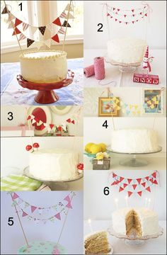 gotta add bunting to my cakes from now on