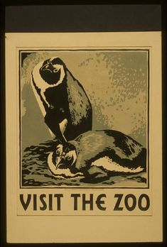 Visit the zoo, WPA vintage poster