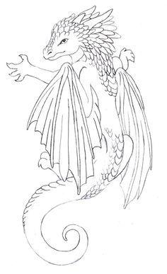 cute dragon tattoo - Google zoeken