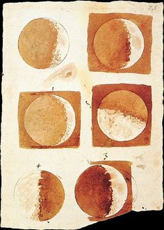 Fases da lúa, por Galileo