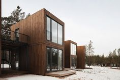 Image 3 of 39 from gallery of Tochka na Karte Hotel / Rhizome. Photograph by Dmitry Tsyrencshikov Wooden Cladding, Scandinavian Architecture, Country Hotel, Wooden Buildings, Stairways, Architecture Details, Interior And Exterior, Townhouse, House Styles