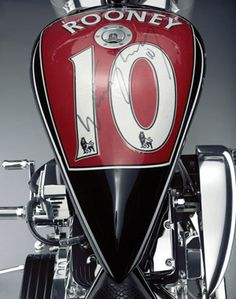 CUSTOM MOTORCYCLE DESIGNED BY MANCHESTER UNITED FOOTBALL STAR WAYNE ROONEY SOLD AT AUCTION