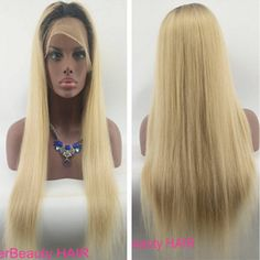 real human hair wigs black root  blonde hair front lace wigs&full lace wigs glueless wigs straight women hair wigs FREE SHIPPING by BetterBeautyHAIR on Etsy