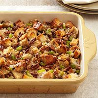 Bourbon-Pecan Stuffing - celebrate the classic Southern flavors of nutty pecans and bourbon in this stuffing recipe.