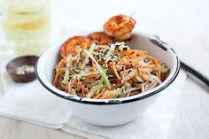 Cold Sesame Noodles with Butter Pepper Shrimp