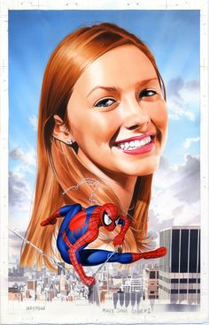 #Spiderman #Fan #Art. (Mary Jane and Spidey) By: Mike Mayhew. (THE * 5 * STÅR * ÅWARD * OF: * AW YEAH, IT'S MAJOR ÅWESOMENESS!!!™)[THANK Ü 4 PINNING<·><]<©>ÅÅÅ+(OB4E)