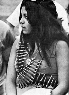 Hilda Reyes, Firme! Photo taken during the 1960's Chicano movement