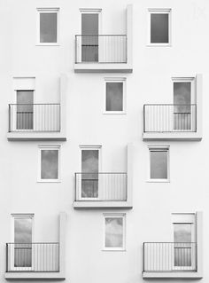 Eye-catching pattern of windows and balconies