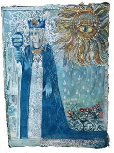 DABOGA Polish Goddess.  Dażbog's wife-sister.  Also known by: Lady Clear Sky, Lady Day, Good (Debra), & Womb (Łona Łuna). Good & Bright.