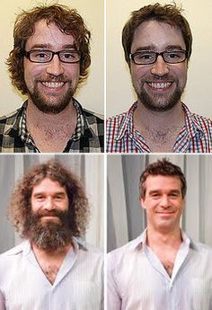 Men - less hair is usually better. Free Makeover, Youth Worker, Every Man, Youth Ministry, Aveda, Work Attire, Plastic Surgery, Salons, What To Wear