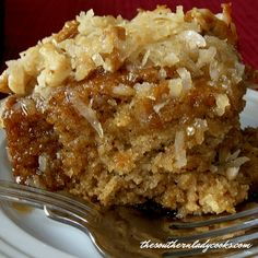 This Lazy Daisy Oatmeal Cake has been around a long time and has always been a favorite of my family. I love the name Lazy Daisy Oatmeal Cake Lazy Daisy Cake, Daisy Cakes, Baking Recipes, Cake Recipes, Dessert Recipes, Dessert Ideas, Coconut Custard Pie, Coconut Pecan, Apple Dump Cakes