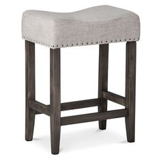 kitchen counter stool - Threshold Saddle Counter Stool w/ NH from Target
