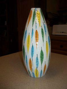 Mid Century Modern Italy Leaf Leaves Bud Vase STIG Lindberg Bitossi Raymor | eBay