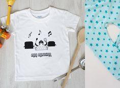 'Mini Musician' Tee & Handmade Big 'n' Small Star Leggings Set (Aqua)