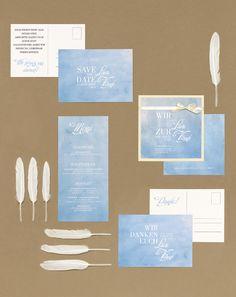 Meeresrauschen - Papeterie, Hochzeitspapeterie, Karten, Einladung, Kirchenheft, Danksagung, Save-the-Date, Menü, Programmheft, Hochzeitszeremonie